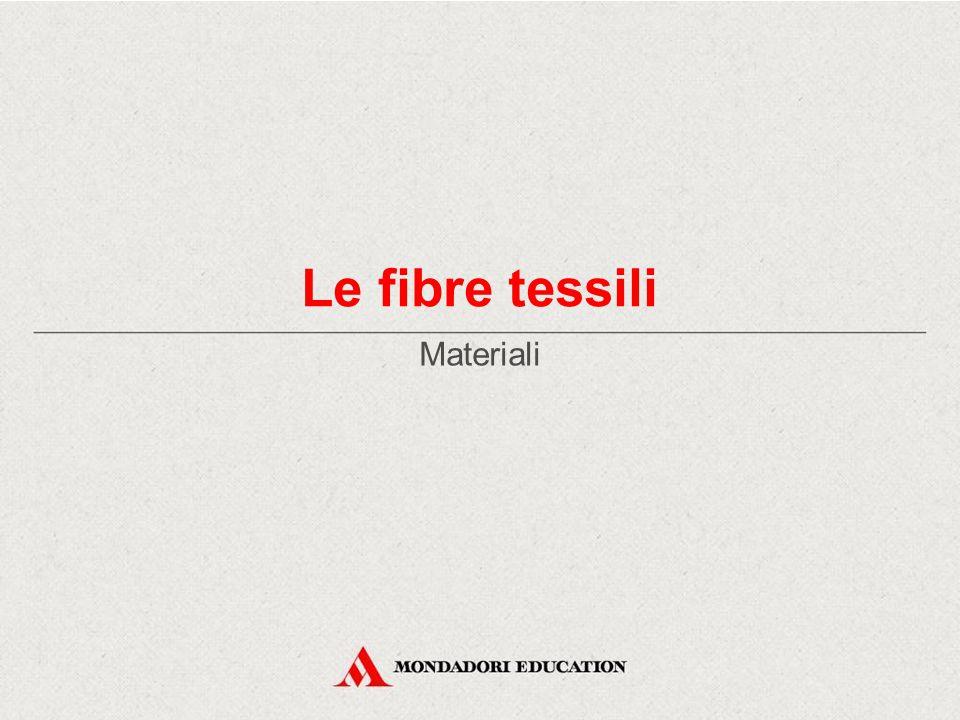 Le fibre tessili Materiali