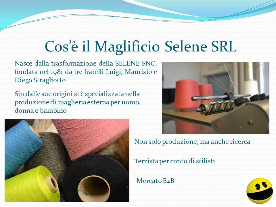 Cos'è il Maglificio Selene SRL Nasce dalla trasformazione della SELENE SNC, fondata nel 1981 da tre fratelli Luigi, Maurizio e Diego Stragliotto Merca