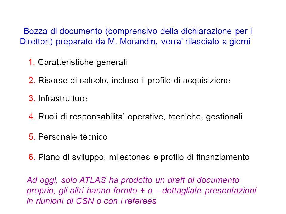Bozza di documento (comprensivo della dichiarazione per i Direttori) preparato da M.