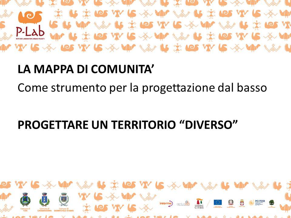 """LA MAPPA DI COMUNITA' Come strumento per la progettazione dal basso PROGETTARE UN TERRITORIO """"DIVERSO"""""""