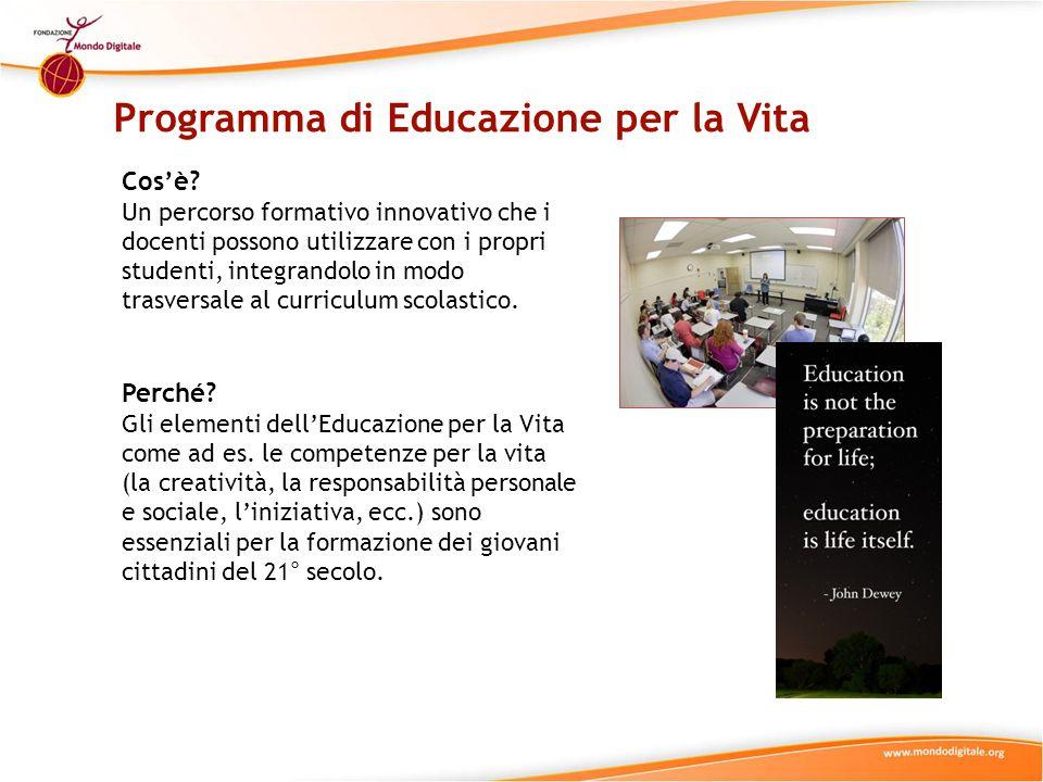 Programma di Educazione per la Vita Cos'è.