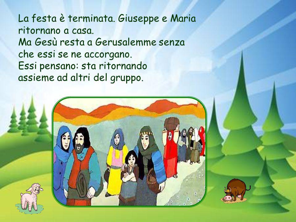 Sono arrivati a Gerusalemme. È la festa di Pasqua. Anche Maria e Giuseppe con Gesù comprano l'agnello da offrire a Dio. E celebrare così la Pasqua.