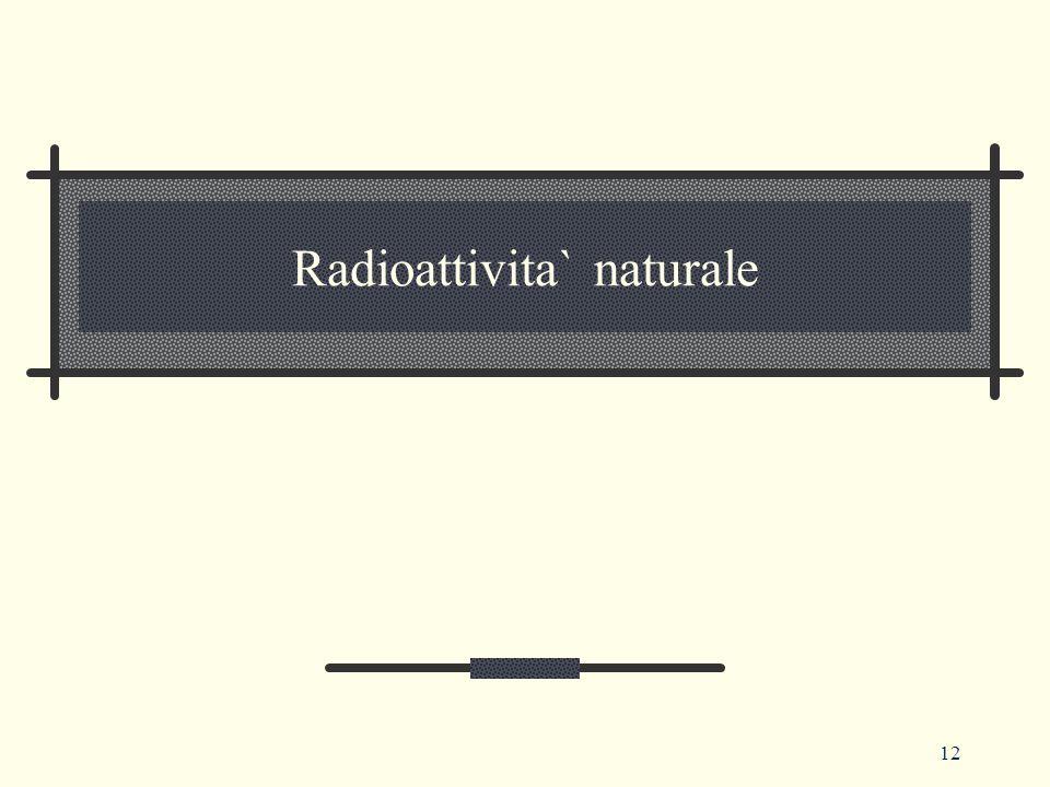 12 Radioattivita` naturale