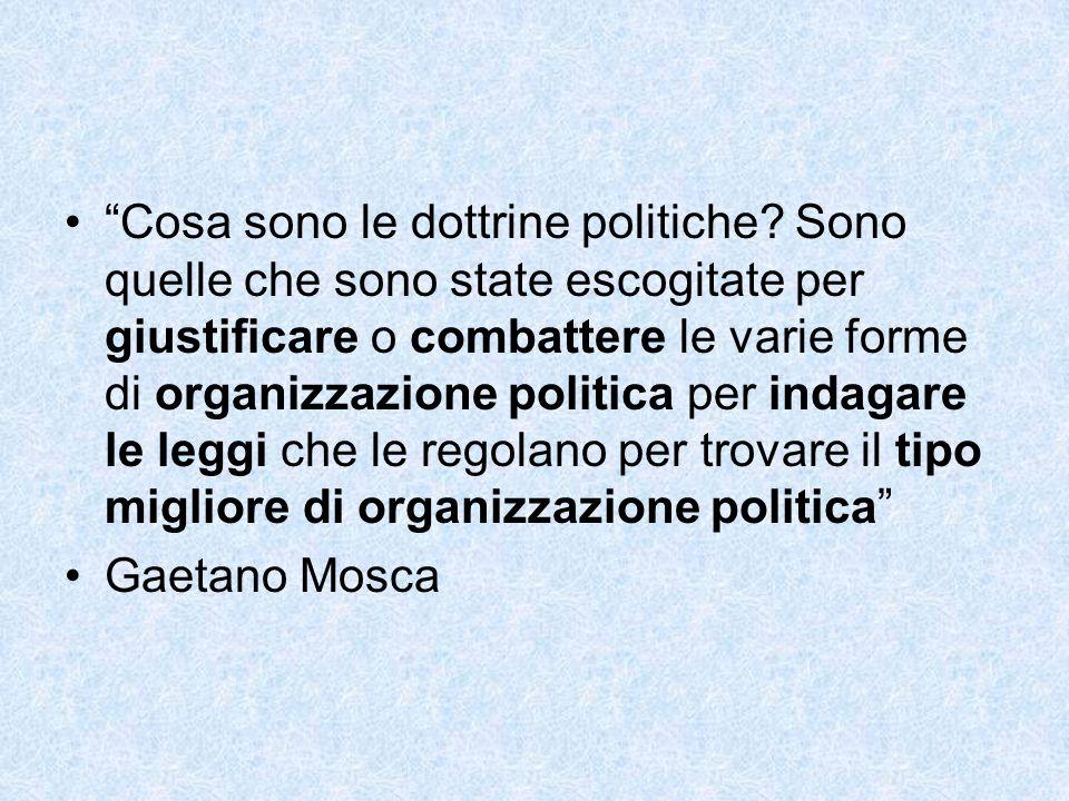 Cosa sono le dottrine politiche.