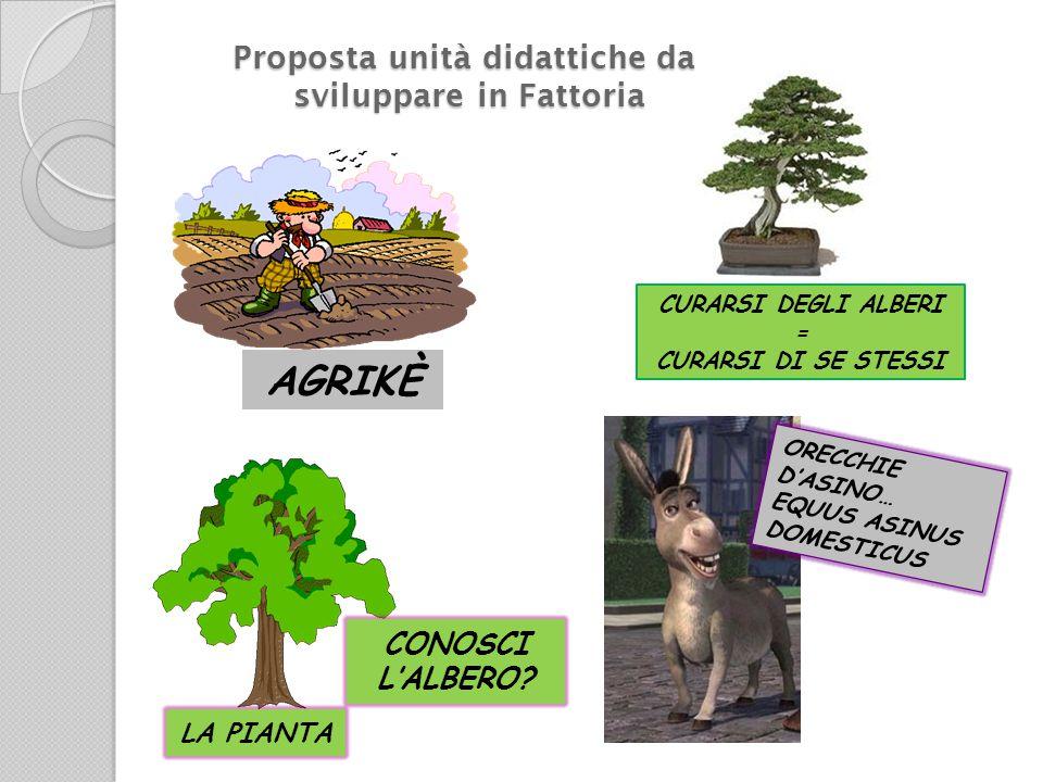 AGRIKÈ CURARSI DEGLI ALBERI = CURARSI DI SE STESSI CONOSCI L'ALBERO.