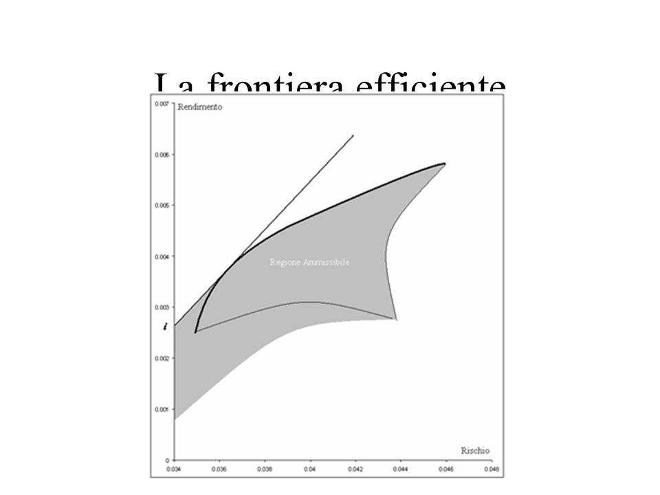 La frontiera efficiente