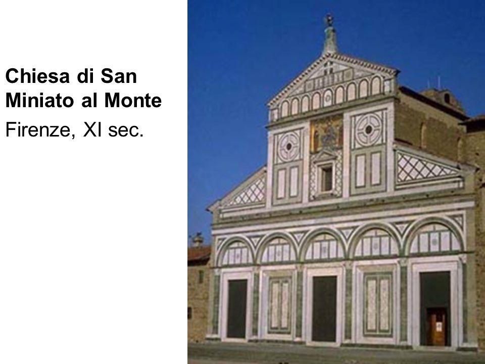 Chiesa di San Miniato al Monte Firenze, XI sec.