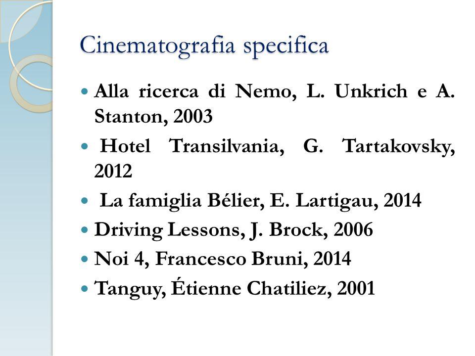 Cinematografia specifica Alla ricerca di Nemo, L.Unkrich e A.