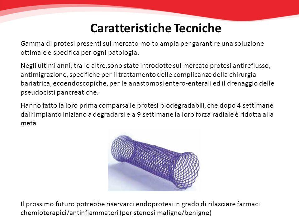 Caratteristiche Tecniche Gamma di protesi presenti sul mercato molto ampia per garantire una soluzione ottimale e specifica per ogni patologia. Negli