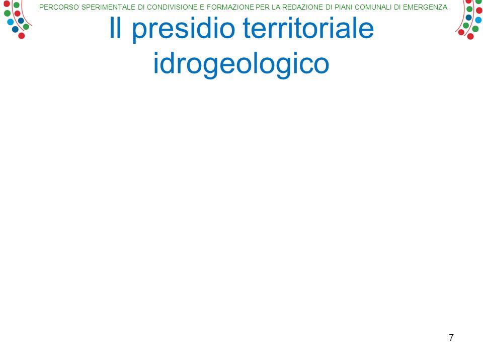 PERCORSO SPERIMENTALE DI CONDIVISIONE E FORMAZIONE PER LA REDAZIONE DI PIANI COMUNALI DI EMERGENZA Il presidio territoriale idrogeologico 7