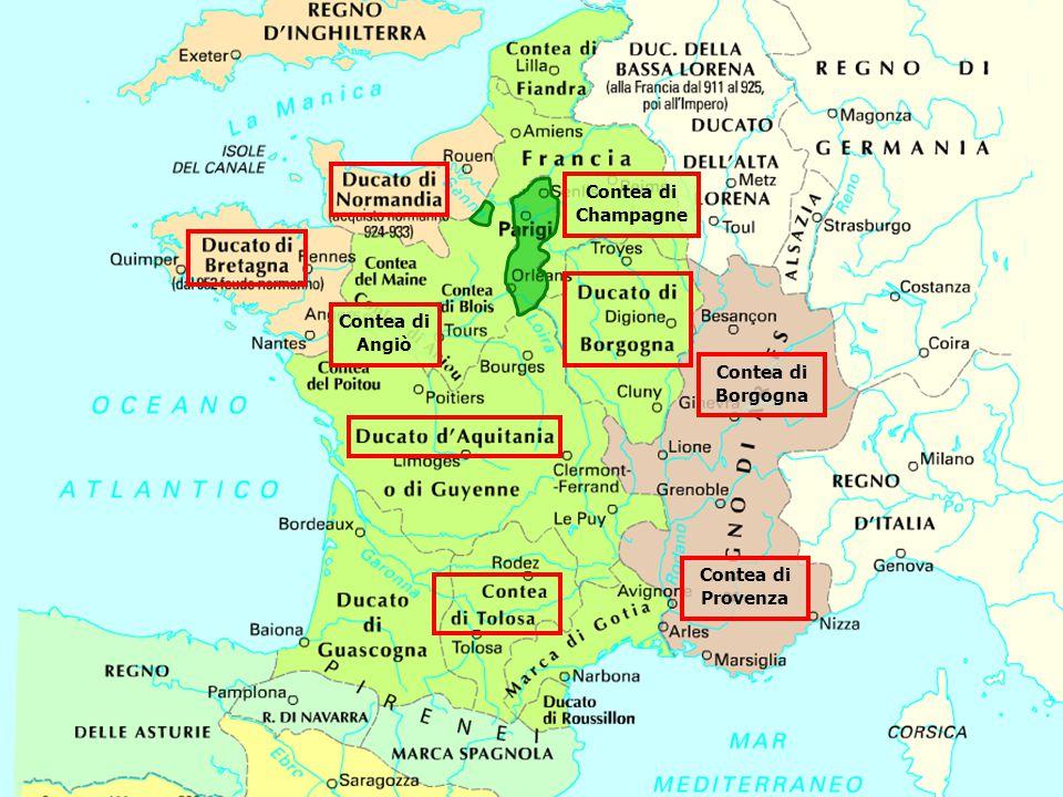 Contea di Borgogna Contea di Provenza Contea di Champagne Contea di Angiò