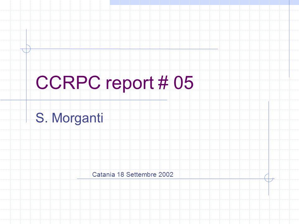 CCRPC report # 05 S. Morganti Catania 18 Settembre 2002