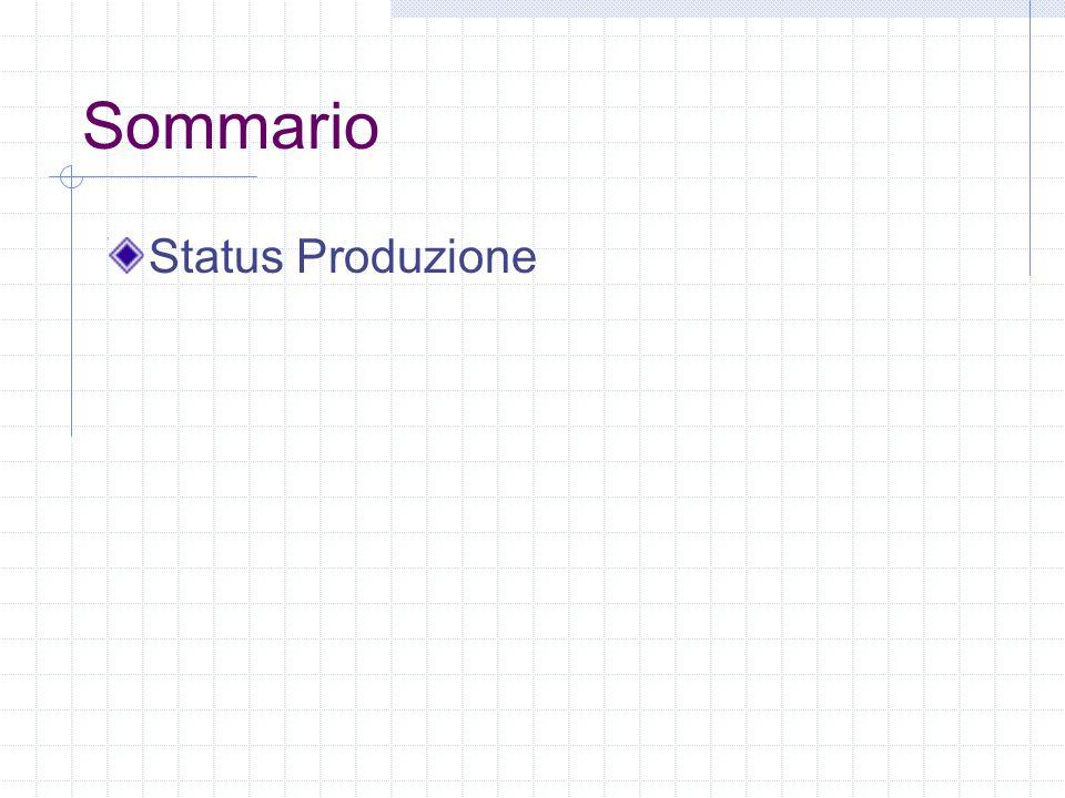Sommario Status Produzione