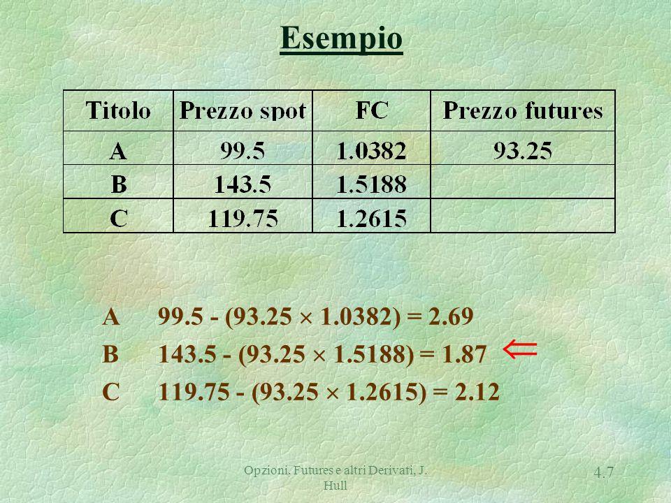Opzioni, Futures e altri Derivati, J.