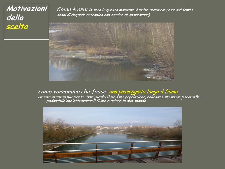 come vorremmo che fosse: una passeggiata lungo il fiume un'area verde in piu' per la citta', usufruibile dalla popolazione, collegata alla nuova passe