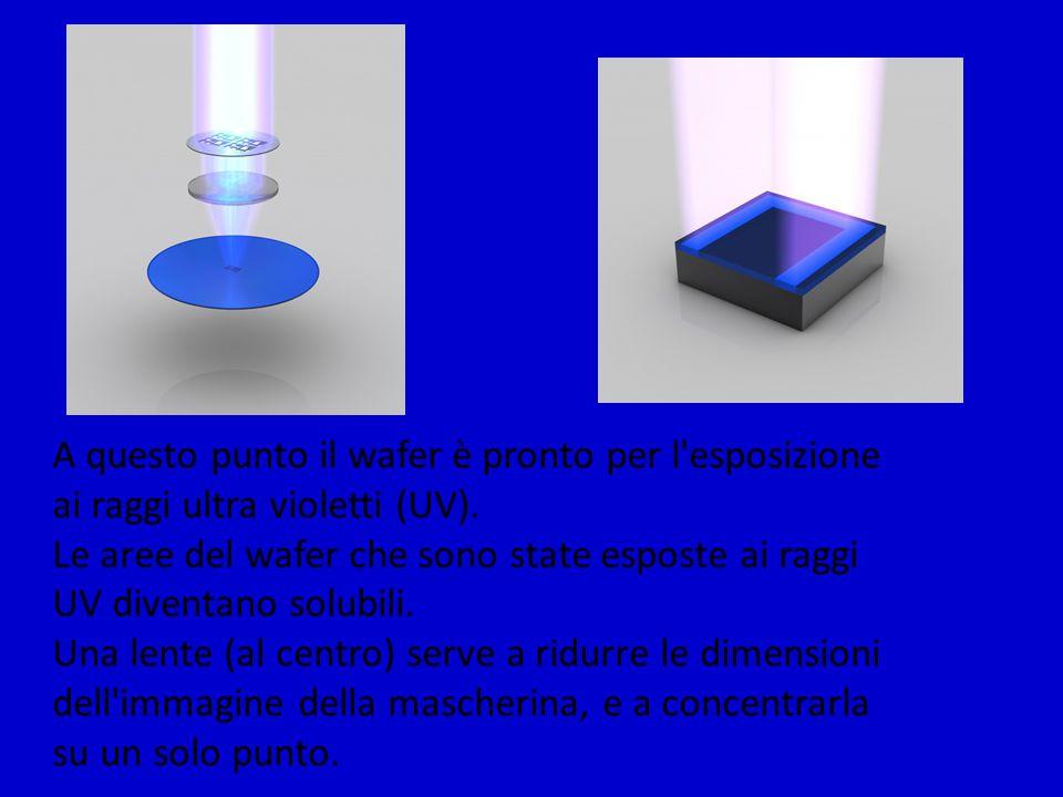 Dopo l esposizione ai raggi UV, quindi, le aree esposte vengono sciolte ed eliminate usando un solvente specifico.