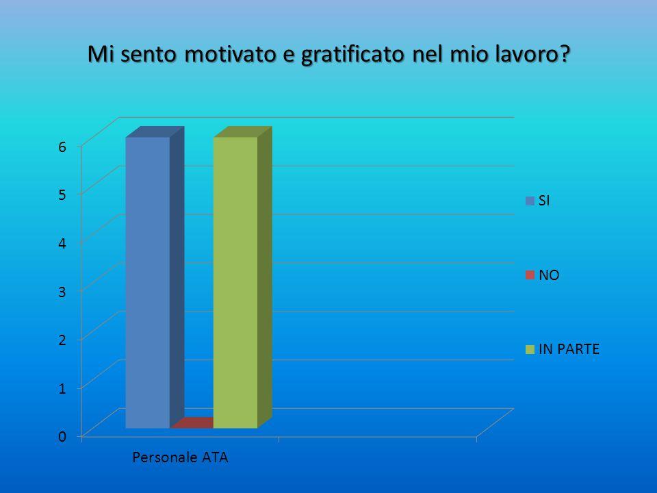 Mi sento motivato e gratificato nel mio lavoro?