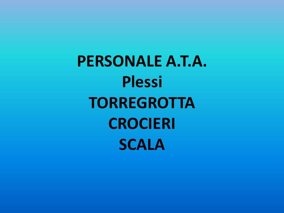 PERSONALE A.T.A. Plessi TORREGROTTA CROCIERI SCALA