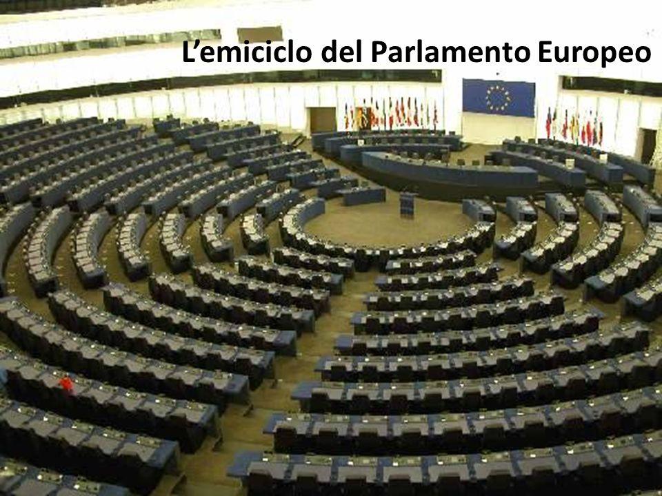 L'emiciclo del Parlamento Europeo