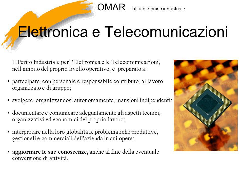 OMAR – istituto tecnico industriale Elettronica e Telecomunicazioni Il Perito Industriale per l'Elettronica e le Telecomunicazioni, nell'ambito del pr