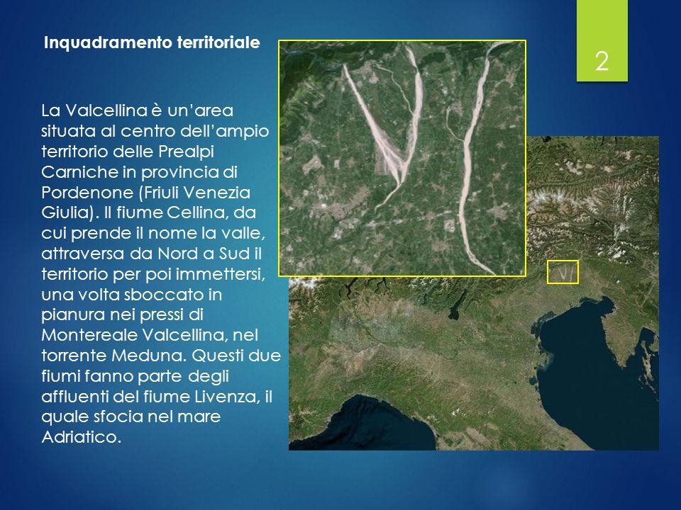 Il bacino idrografico è di notevole estensione (445 km 2 ) e caratterizzato da una forte pendenza del suolo: la zona comprende aree montuose poste a considerevoli altezze e ambiti vallivi che degradano dai 1500 m s.l.m.
