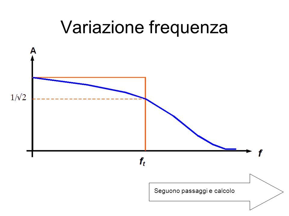 Variazione frequenza Seguono passaggi e calcolo