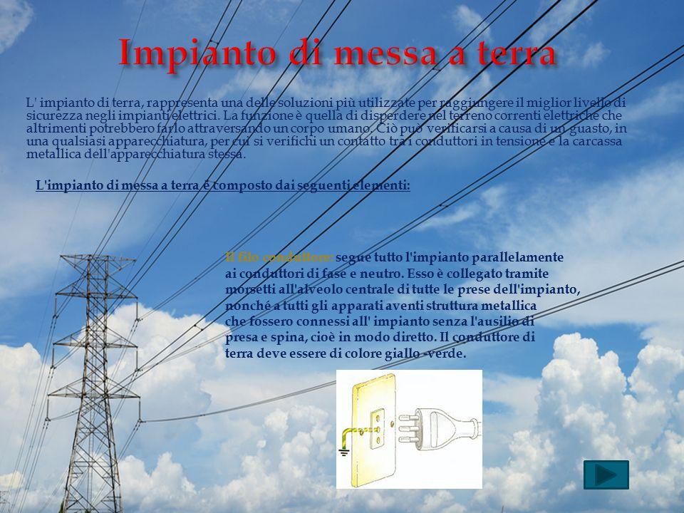 L' impianto di terra, rappresenta una delle soluzioni più utilizzate per raggiungere il miglior livello di sicurezza negli impianti elettrici. La funz