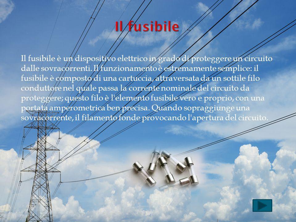 Il fusibile è un dispositivo elettrico in grado di proteggere un circuito dalle sovracorrenti. Il funzionamento è estremamente semplice: il fusibile è