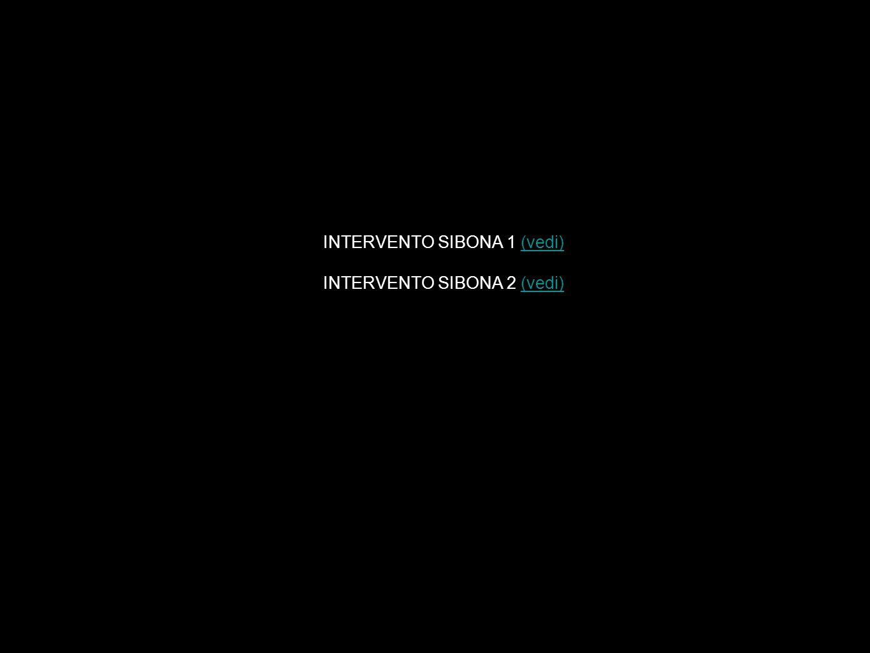 INTERVENTO SIBONA 1 (vedi)(vedi) INTERVENTO SIBONA 2 (vedi)(vedi)