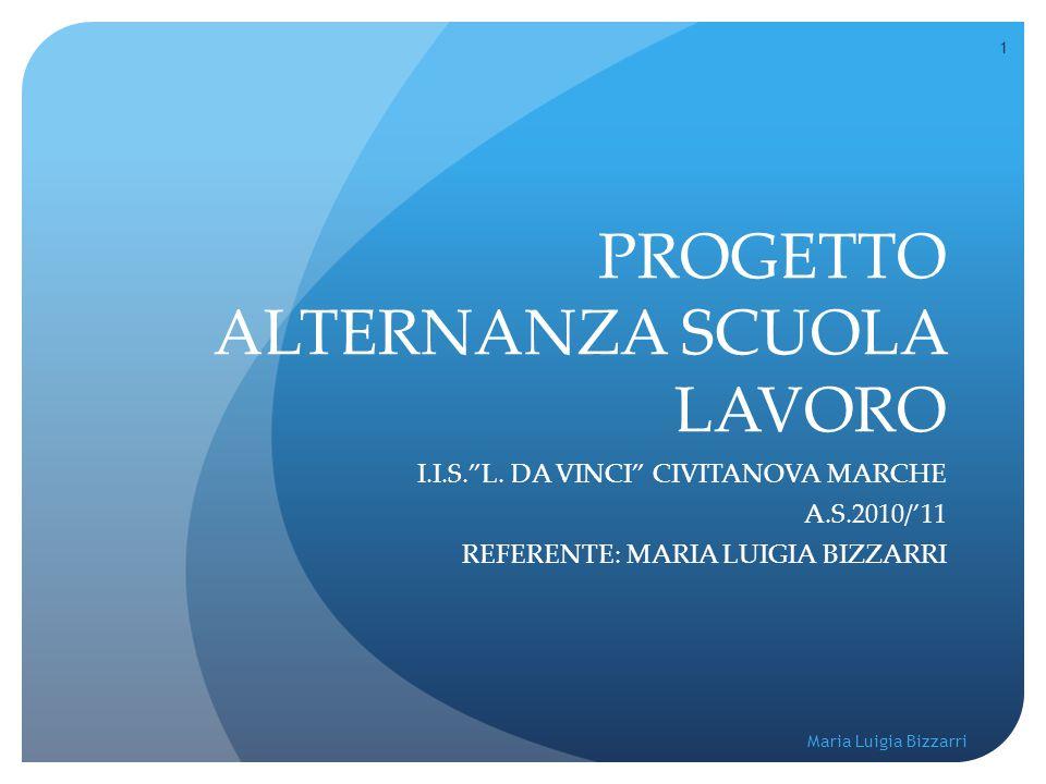 """1 Maria Luigia Bizzarri PROGETTO ALTERNANZA SCUOLA LAVORO I.I.S.""""L. DA VINCI"""" CIVITANOVA MARCHE A.S.2010/'11 REFERENTE: MARIA LUIGIA BIZZARRI"""