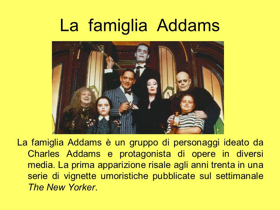 I personaggi Gomez Addams è un uomo d'affari, passa il suo tempo libero tirando di scherma o gioca a far scontrare i suoi trenini.
