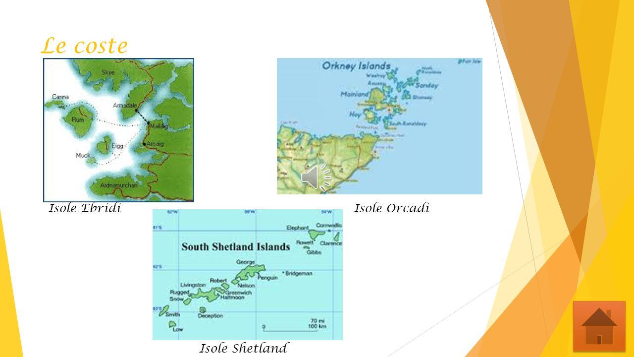 Le coste Isole Ebridi Isole Orcadi Isole Shetland