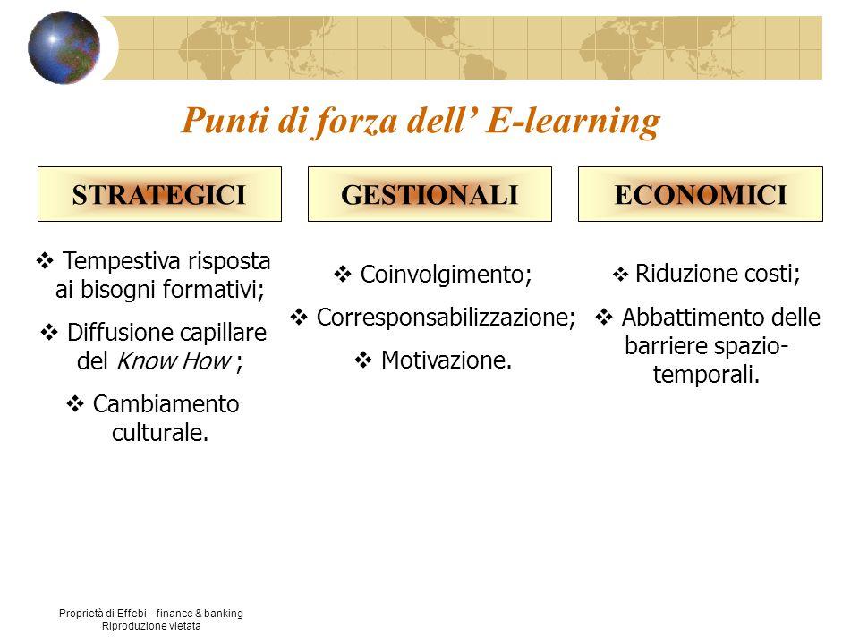 Proprietà di Effebi – finance & banking Riproduzione vietata Piattaforma tecnologica; Interazione partecipante-tutor; Motivazione dei partecipanti.