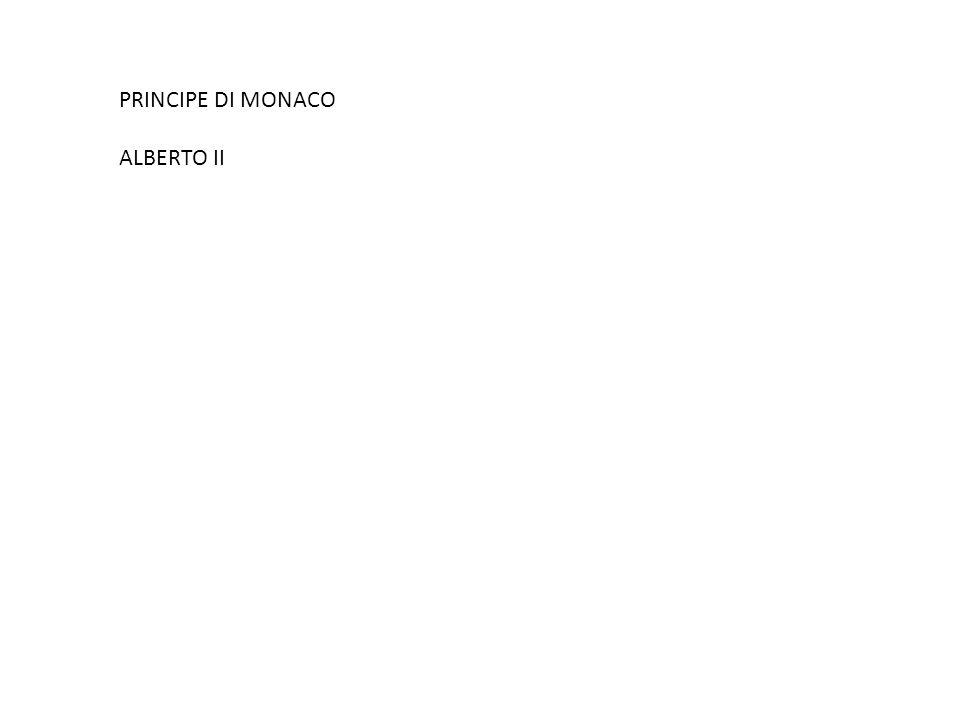 PRINCIPE DI MONACO ALBERTO II