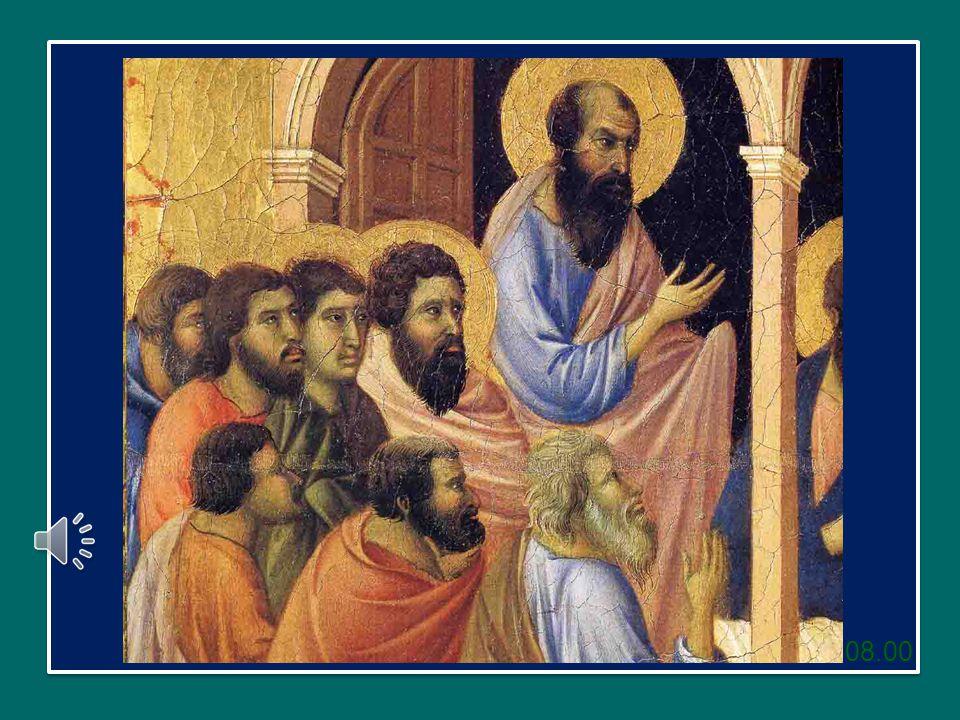 Allora fecero flagellare gli Apostoli e comandarono loro nuovamente di non parlare più nel nome di Gesù.