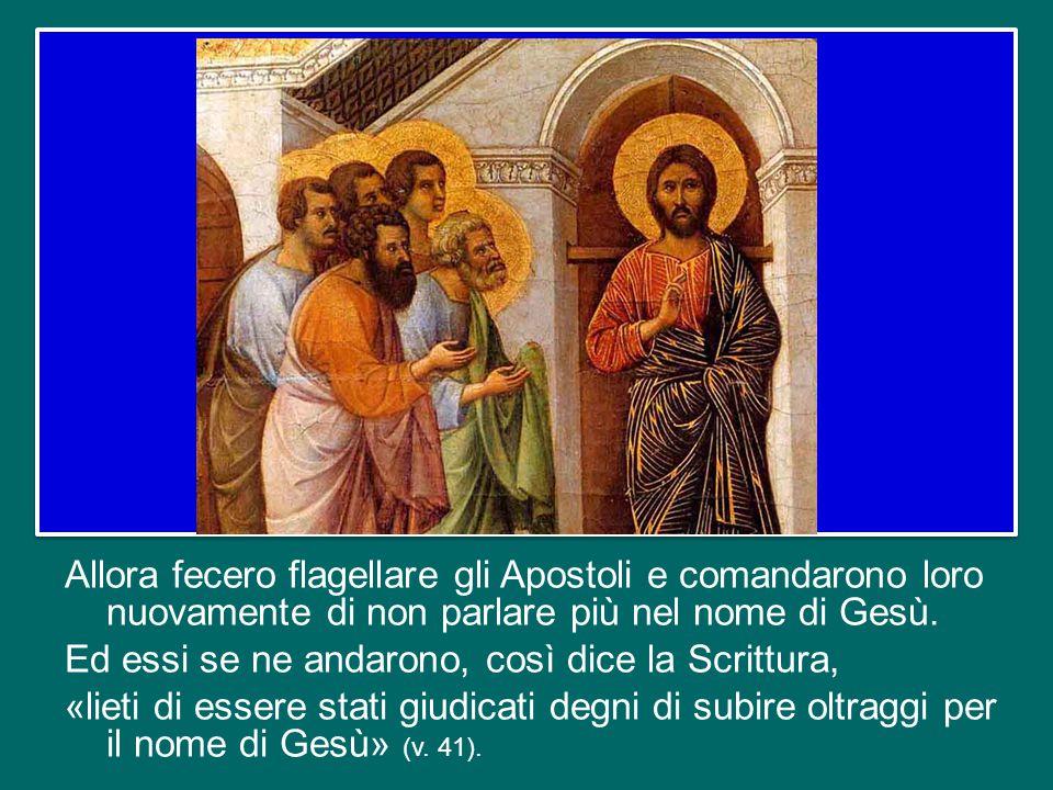 I sommi sacerdoti e i capi della città cercarono di stroncare sul nascere la comunità dei credenti in Cristo e fecero imprigionare gli Apostoli, ordinando loro di non insegnare più nel suo nome.
