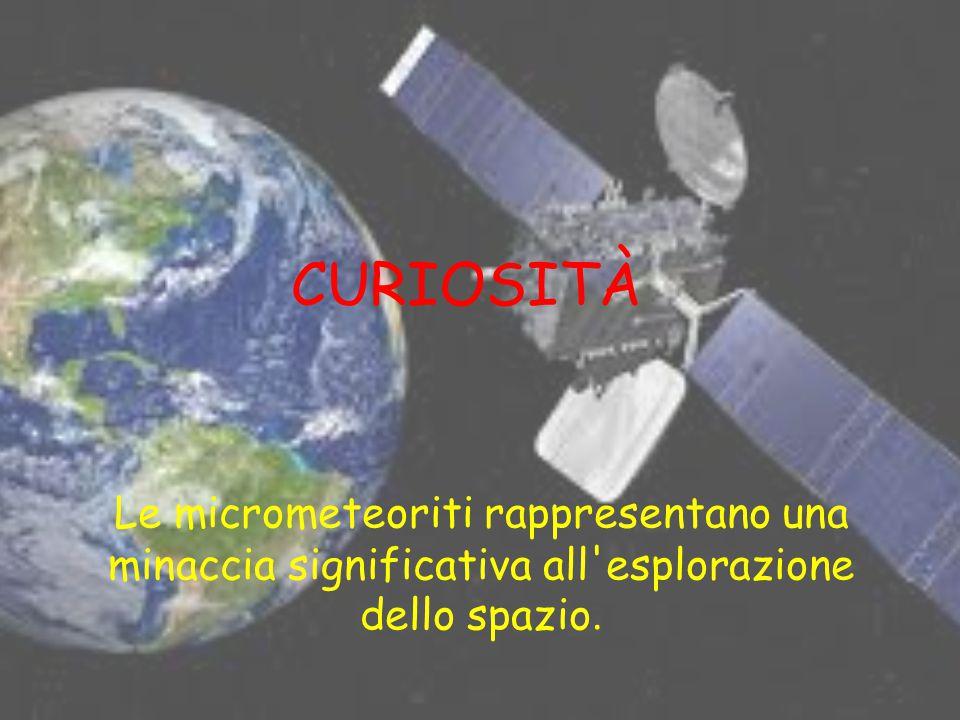 CURIOSITÀ Le micrometeoriti rappresentano una minaccia significativa all'esplorazione dello spazio.