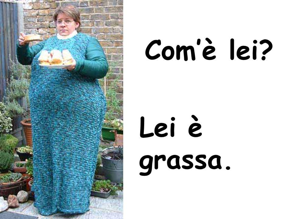 Com'è lei? Lei è grassa.