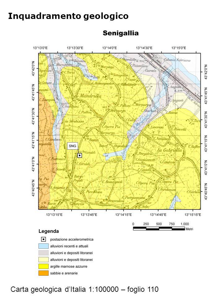 Riferimenti Geologia Carta geologica d'Italia 1:100000 – foglio 110