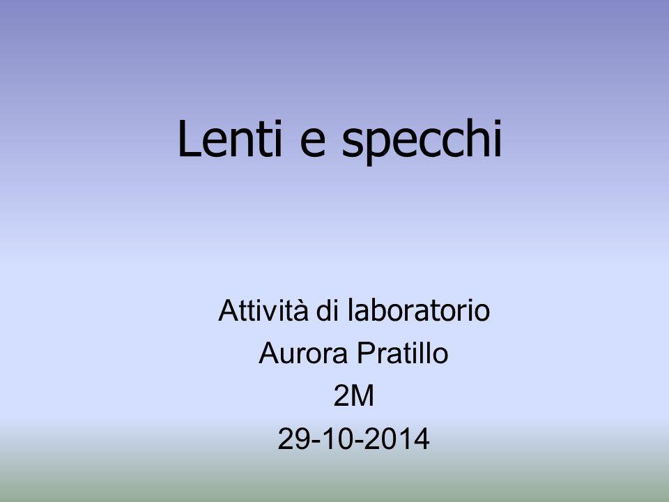 Lenti e specchi Attività di laboratorio Aurora Pratillo 2M 29-10-2014