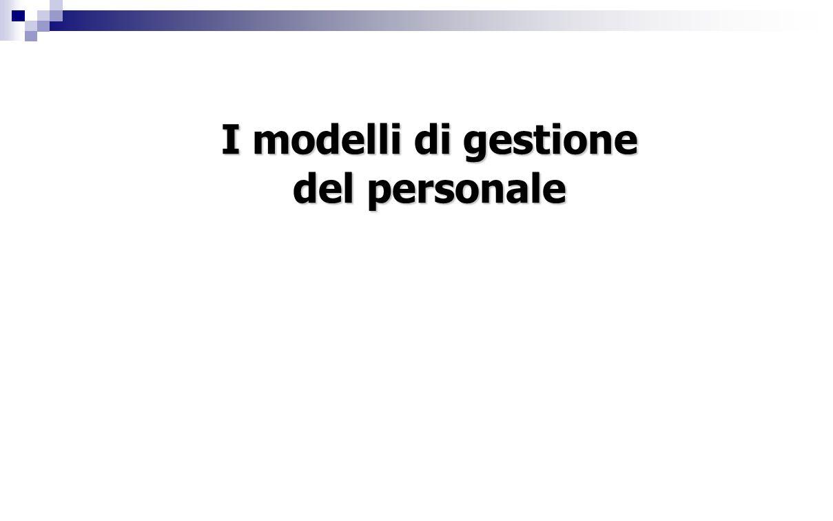 I modelli di gestione del personale