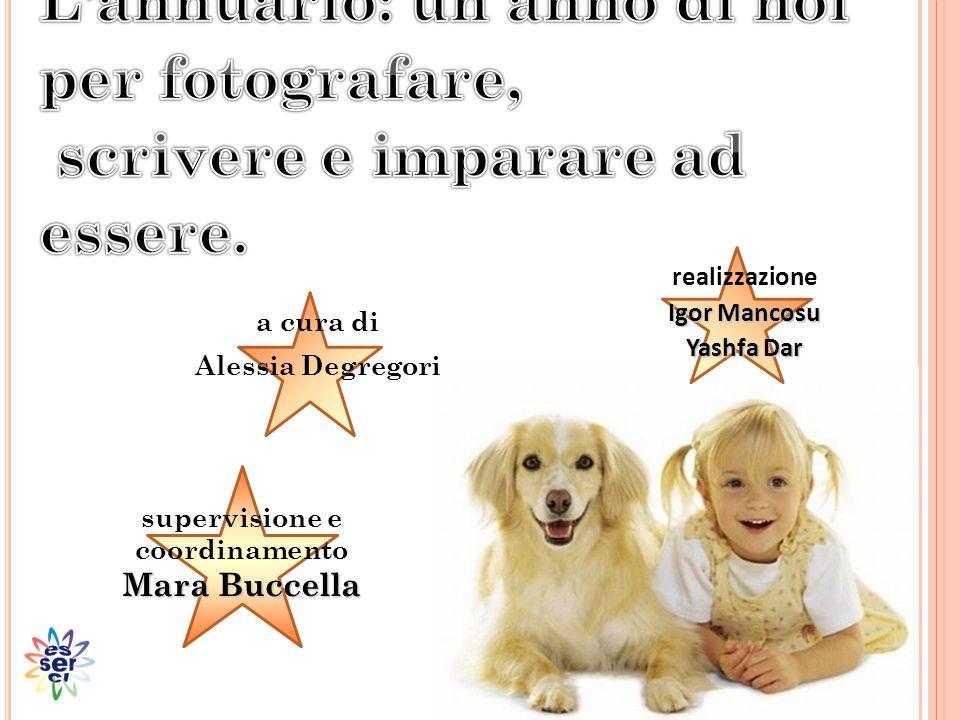 supervisione e coordinamento Mara Buccella realizzazione Igor Mancosu Yashfa Dar a cura di Alessia Degregori