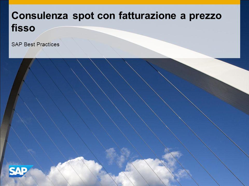 Consulenza spot con fatturazione a prezzo fisso SAP Best Practices