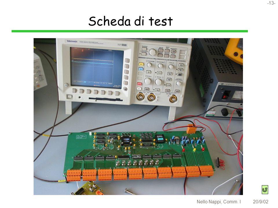 -13- Nello Nappi, Comm. I20/9/02 Scheda di test