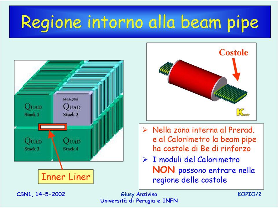 -21- Nello Nappi, Comm. I20/9/02 Regione intorno alla beam pipe