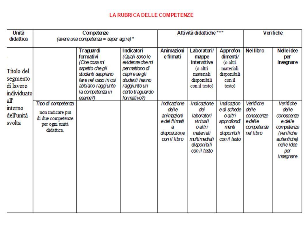 8 Abbiamo scelto un modello che in qualche modo potesse essere utile agli stessi docenti, sia a livello di condivisione, sia a livello di metariflessione sui processi attivati all interno del segmento di lavoro individuato.