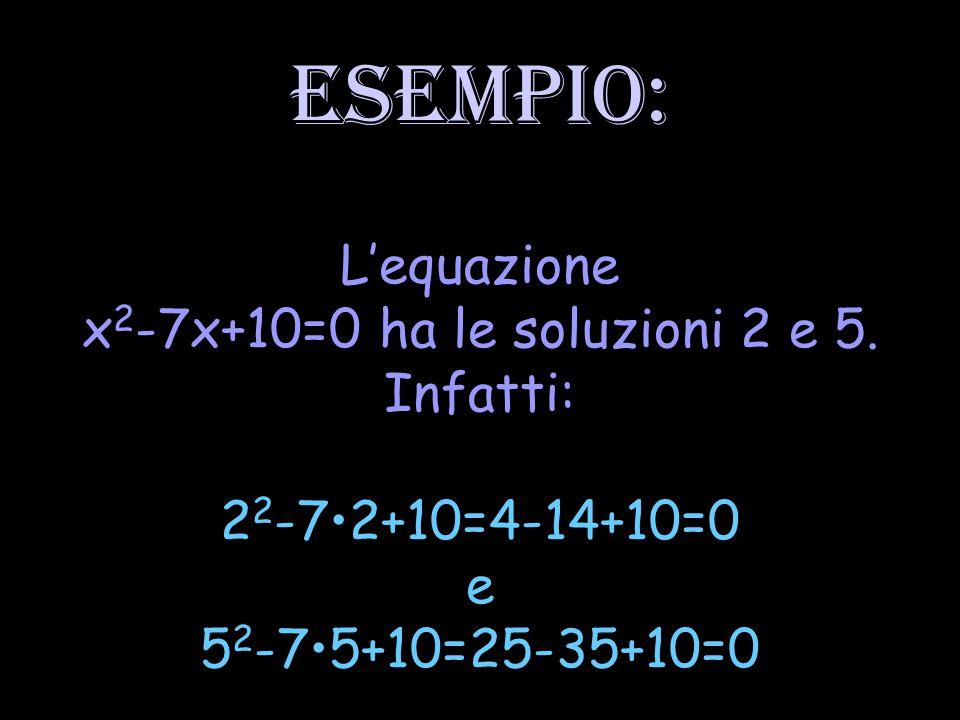 Per risolvere l'equazione bisogna determinare quei valori numerici o quelle espressioni letterali che, sostituiti al posto dell'incognita, verificano