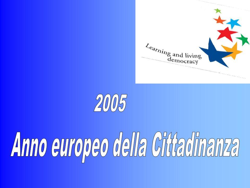 L'educazione alla cittadinanza nelle scuole d'Europa Il rafforzamento della coesione sociale e una partecipazione più attiva da parte dei Cittadini alla vita sociale e politica sono divenute questioni centrali per i governi e per l'Unione Europea.