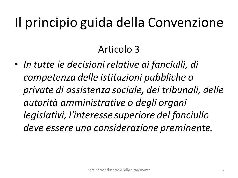 3P della Convenzione Promotion Protection Participation 4Seminario educazione alla cittadinanza
