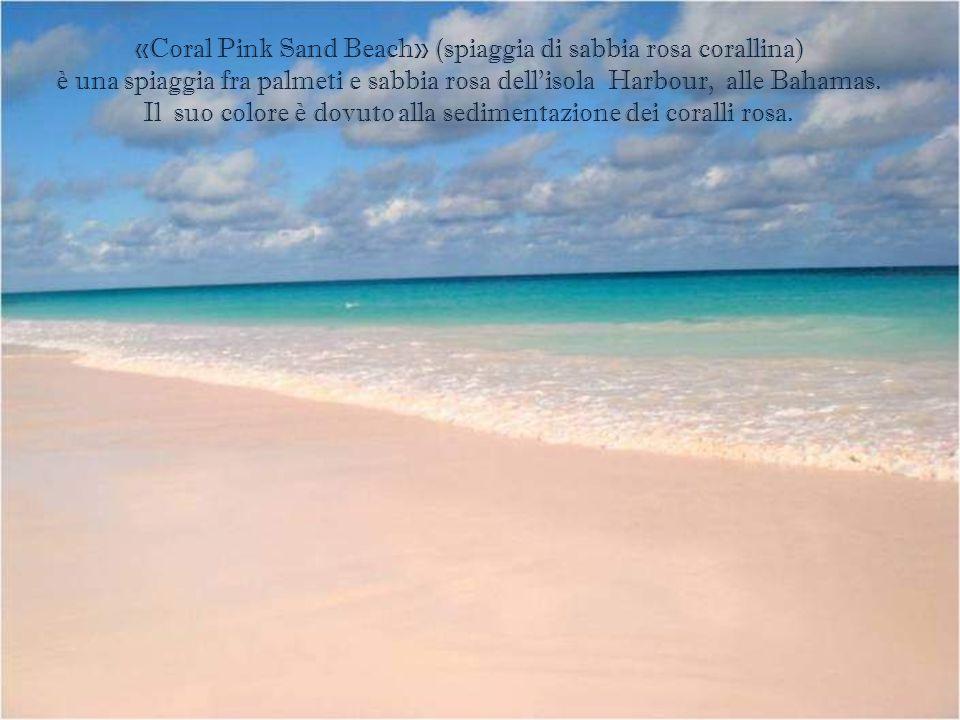 Spiaggia di sabbia rosa, alle Bahamas